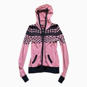 Dickies Pastel Pink & Black Y2K Knitted Sweater